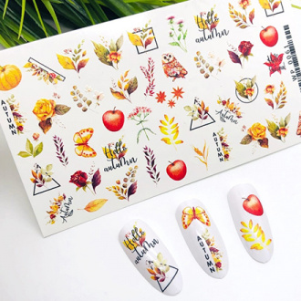 Ami-Nails, Слайдер-дизайн №0061 «Осень»