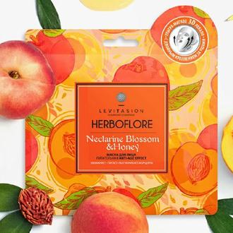 Levitasion, Тканевая маска для лица Herboflore Nectarine Blossom & Honey, 35 г