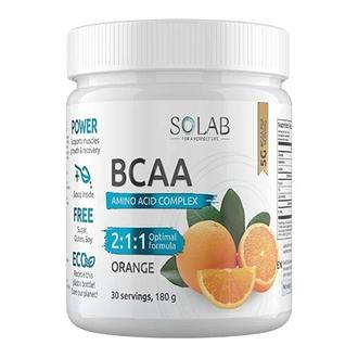 SOLAB, Аминокислоты BCAA 2:1:1, апельсин, 180 г