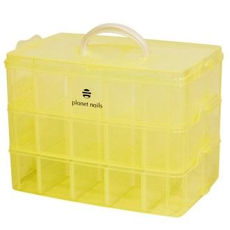 Planet Nails, чемодан пластиковый трехуровневый