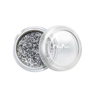 ruNail, дизайн для ногтей: стружка (серебряный)