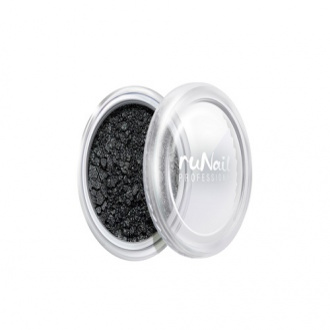 ruNail, дизайн для ногтей: пыль 2007 (черный, матовый)