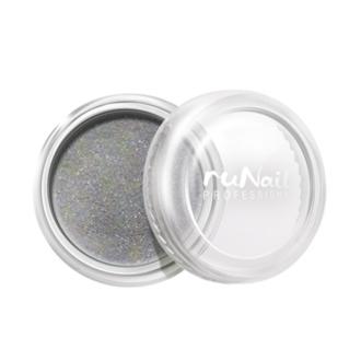 ruNail, дизайн для ногтей: пыль (серебряный)