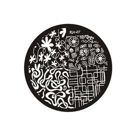 El Corazon, диск для стемпинга Kst-07 Kaleidoscope