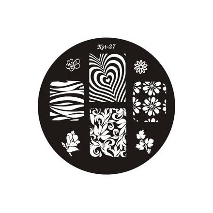 El Corazon, диск для стемпинга Kst-27 Kaleidoscope