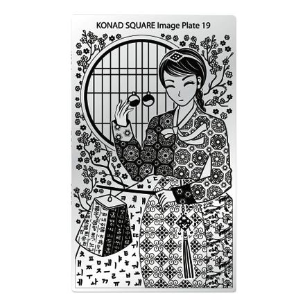 Konad, Пластина для стемпинга Square Image Plate №19