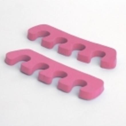 ruNail, разделители для пальцев ног (розовые, 10 мм)