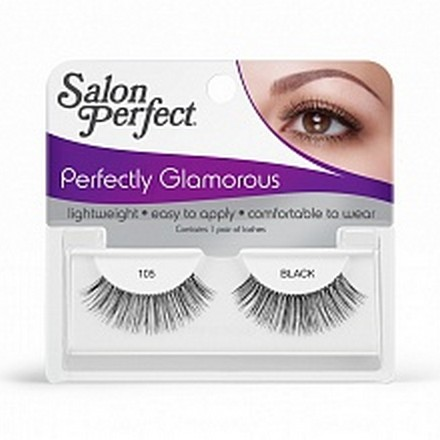 Salon Perfect, Strip lash black, Ресницы черные № 105