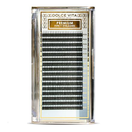 Dolce Vita, Ресницы в ленте Y-объем Special Deluxe 0.15/10 B натуральный изгиб