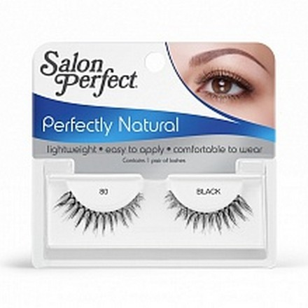 Salon Perfect, Strip lash black, Ресницы черные № 80