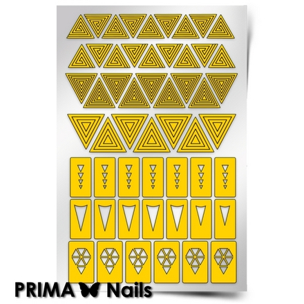 Prima Nails, Трафареты «Треугольники»