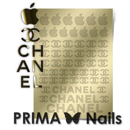 Prima Nails, Металлизированные наклейки FSH-01, золото