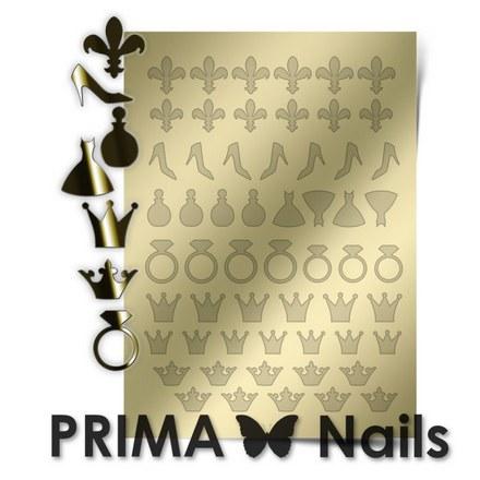Prima Nails, Металлизированные наклейки FSH-03, золото