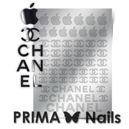 Prima Nails, Металлизированные наклейки FSH-01, серебро