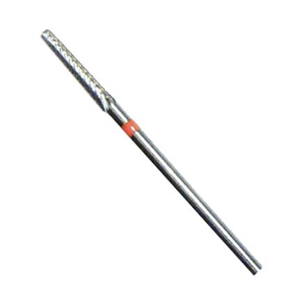 Фреза твердосплавная 129, красная мягкая (простая и крестообразная нарезка), D=2.3 мм