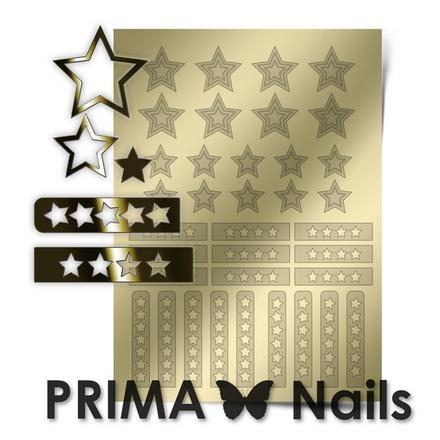 Prima Nails, Металлизированные наклейки UZ-02, золото