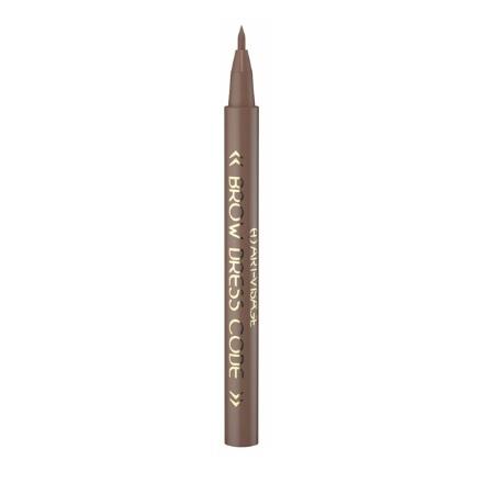Art-Visage, Фломастер для бровей Brow dress code устойчивый, тон 803 темно-коричневый