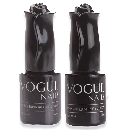 Vogue Nails, Набор Rubber base (база) и Rubber top (топ)
