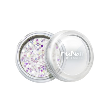 ruNail, дизайн для ногтей: конфетти (белый)