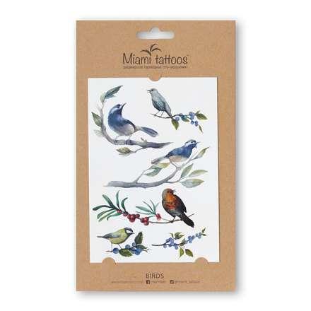 Miami Tattoos, Акварельные переводные тату Birds