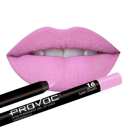 Provoc, Gel Lip Liner 16 Satin Sheets, Цвет Ярко-розовый