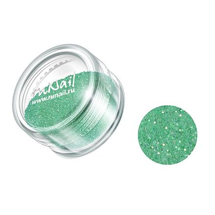 ruNail, дизайн для ногтей: блестки 0645 (Нежно-зеленый)