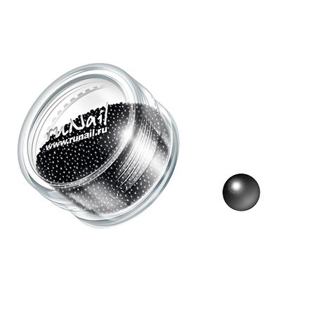 ruNail, дизайн для ногтей: бульонки 0311 (черный)