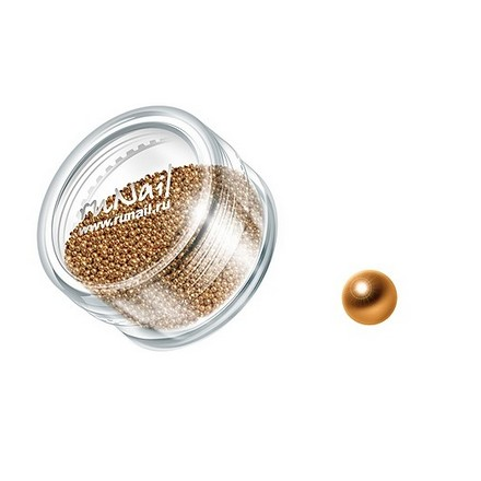 ruNail, дизайн для ногтей: бульонки 0321 (золотой)