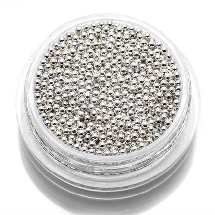 TNL, Бульонки металлические 1,2 мм (серебро)