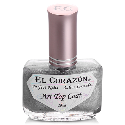 El Corazon, Топ Art Top Coat №421/23 Holography rainbow, 16 мл (УЦЕНКА)