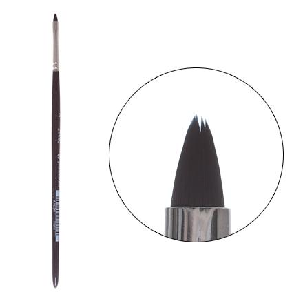 Planet Nails, Кисть для дизайна овальная, короткая №2