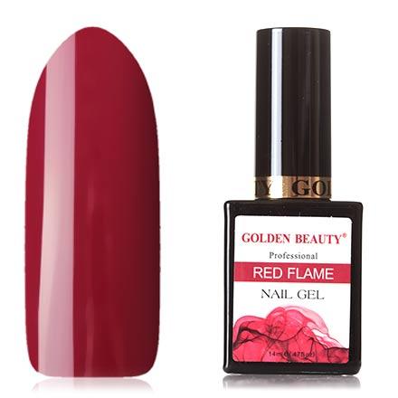 Golden Beauty, Гель-лак Red Flame №09