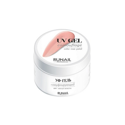 ruNail, Камуфлирующий UV-гель, нежный лепесток, 56 г