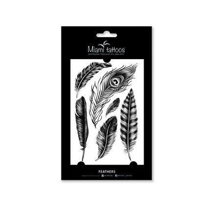 Miami Tattoos, Переводные татуировки Feathers