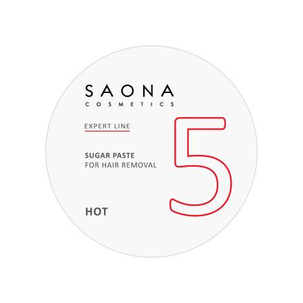 Saona Cosmetics, Сахарная паста для депиляции Hot, твердая, 200 г