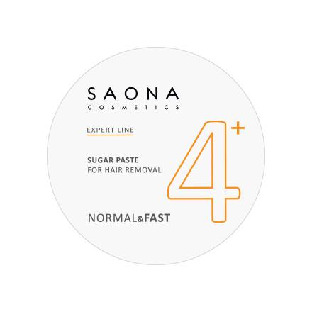 Saona Cosmetics, Сахарная паста для депиляции Normal/Fast, 200 г