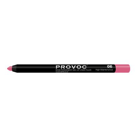 Provoc, Гелевая подводка-карандаш для губ №06, High Maintenance, цвет малиновый