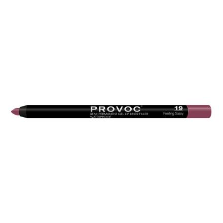 Provoc, Гелевая подводка-карандаш для губ №19, Feeling Sassy, цвет малиновый