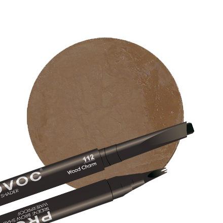 Provoc, Гелевая подводка для бровей 112 Wood Charm, цвет коричневый