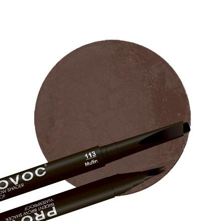 Provoc, Гелевая подводка для бровей 113 Muffin, цвет темно-коричневый