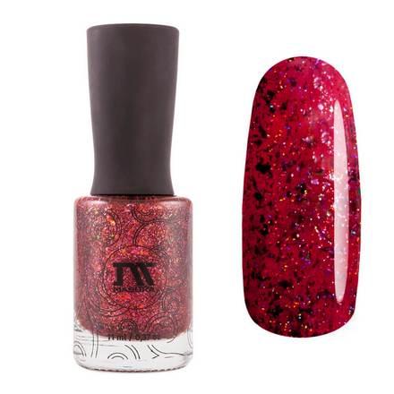 Masura, Лак для ногтей «Золотая коллекция», Celebrate red with pat, 11 мл
