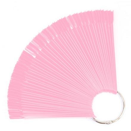 Patrisa Nail, Дисплей веерный на кольце, розовый, 50 шт.