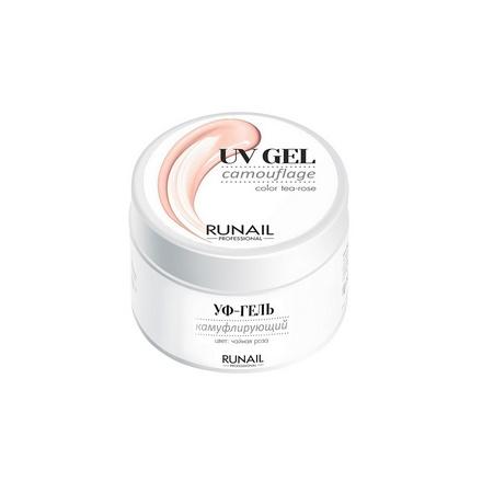 ruNail, Камуфлирующий UV-гель, чайная роза, 30 г