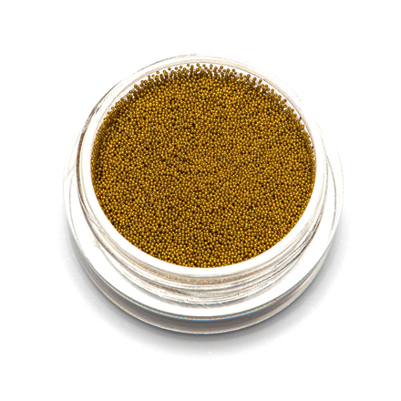 TNL, Бульонки супермелкие, золото, 0,2 мм