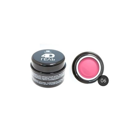 TNL, 4D-гель для дизайна ногтей №6, розовый