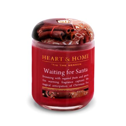 Heart&Home, Свеча «В ожидании Санты», маленькая, 110 г