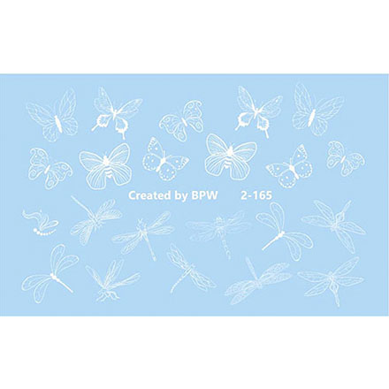 BPW.Style, Слайдер-дизайн «Белые бабочки и стрекозы» №2-165
