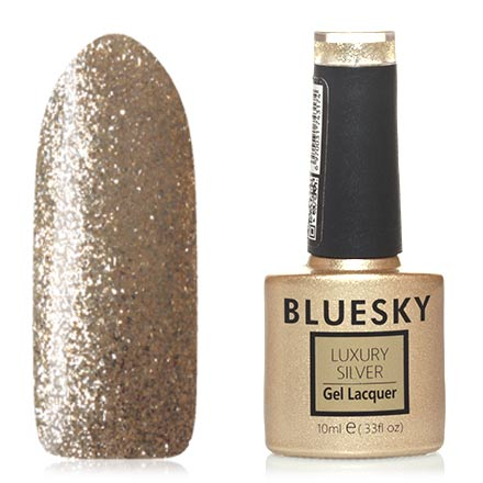 Bluesky, Гель-лак Luxury Silver №517