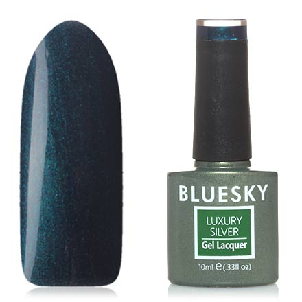 Bluesky, Гель-лак Luxury Silver №645
