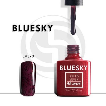 Bluesky, Гель-лак Luxury Silver №578
